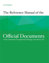Image for Reference Manual of Official Documents of the AOTA, 23rd Ed.