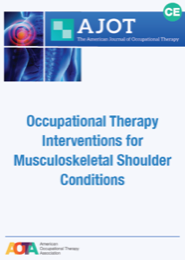 Image for AJOT CE: Effectiveness of Occupational Therapy Interventions for Musculoskeletal Shoulder Conditions: A Systematic Review
