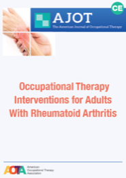 Image for AJOT CE: Effectiveness of Occupational Therapy Interventions for Adults With Rheumatoid Arthritis: A Systematic Review