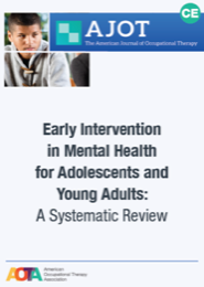 Image for AJOT CE: Early Intervention in Mental Health for Adolescents and Young Adults: A Systematic Review