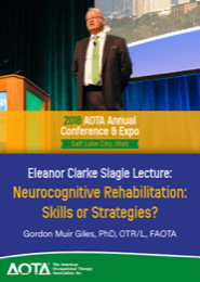 Image for 2018 Eleanor Clarke Slagle Lecture: Neurocognitive Rehabilitation: Skills or Strategies?
