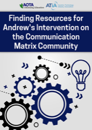 Image for Webinar: Finding Resources for Andrew's Intervention on the Communication Matrix Community